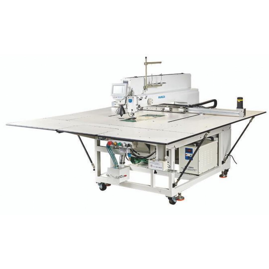MAQI M9-90SY-LC програмированная машина циклического шитья с лазером, рабочее поле машины 1300 х 840 мм